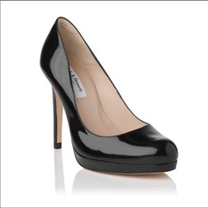 LK Bennett Sledge Black Patent Leather Court Shoes